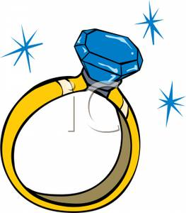 263x300 Free Clipart Image A Diamond Engagement Ring