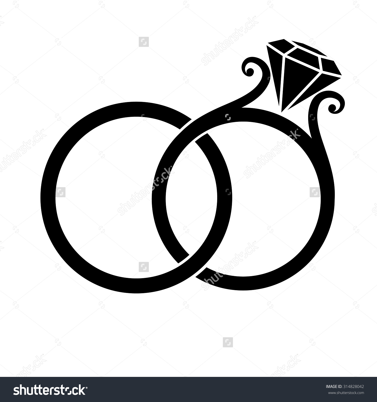 1500x1600 Wedding Rings Clipart