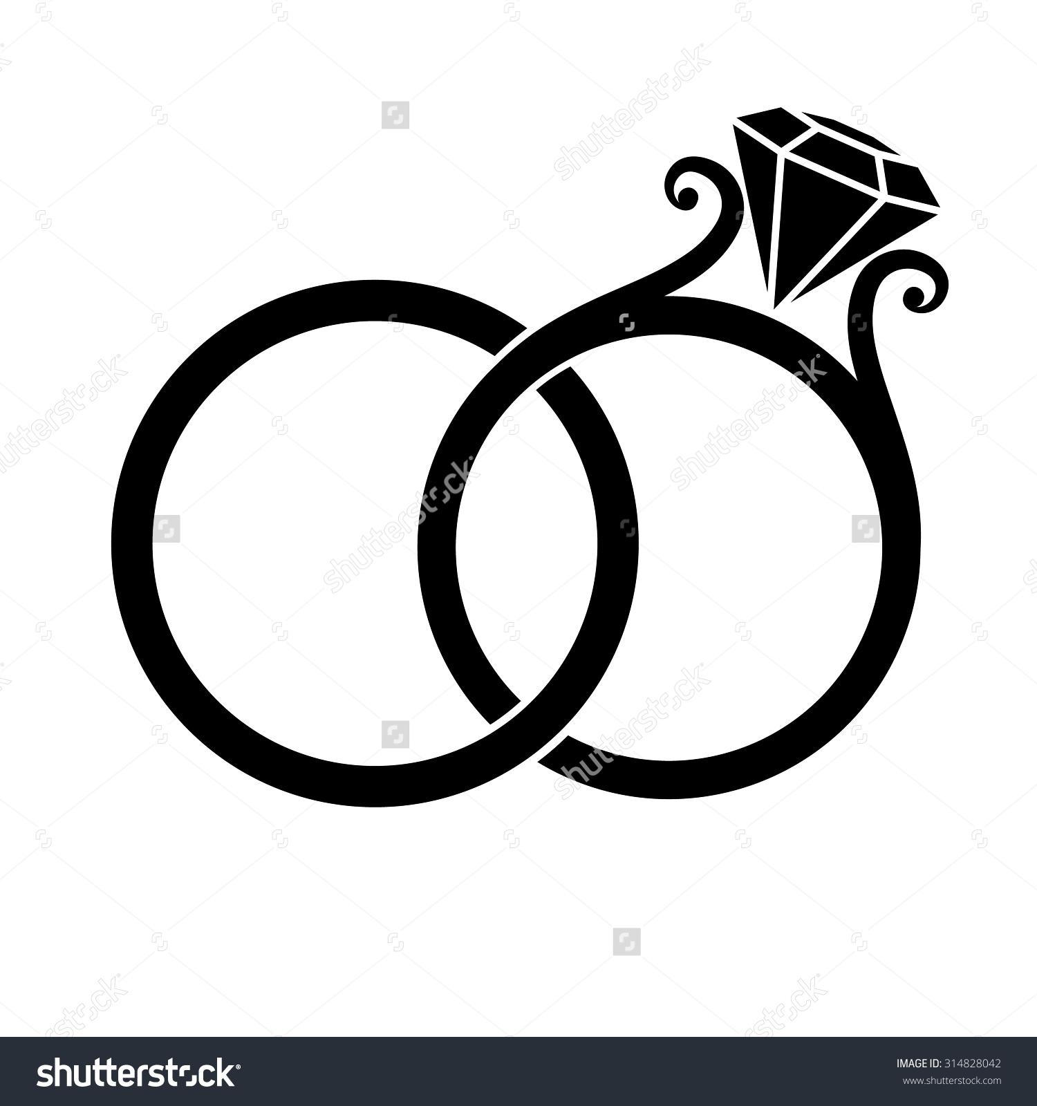 1500x1600 Wedding Rings Clipart