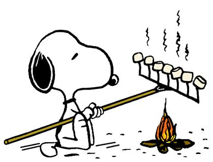 Cartoon Roasting Marshmallows