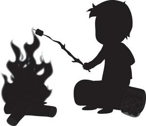 300x258 Bonfire Clipart Roasting Marshmallow #2557245
