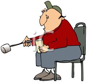 300x281 Cartoon Of Man Sitting Holding Beveragend Roasting