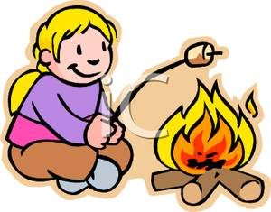 300x235 Girl Roasting Marshmallows Over A Campfire