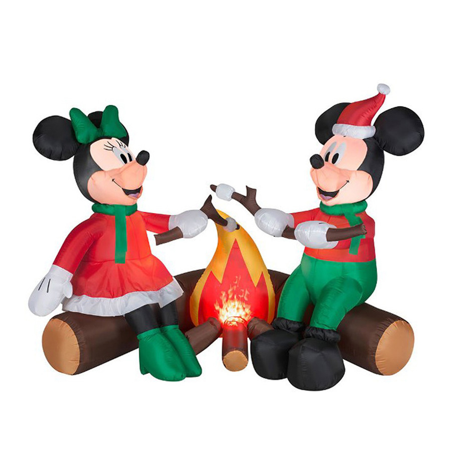 900x900 Shop J. Marcus 4 Ft X 5 Ft 6 In Lighted Mickey And Minnie Roasting