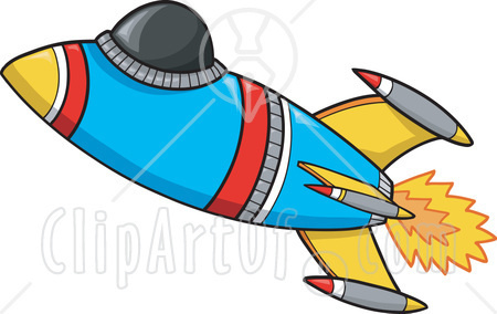 450x284 Rocket Clipart Free Space