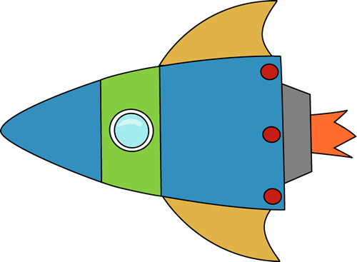 500x367 Blue And Green Space Rocket Clip Art