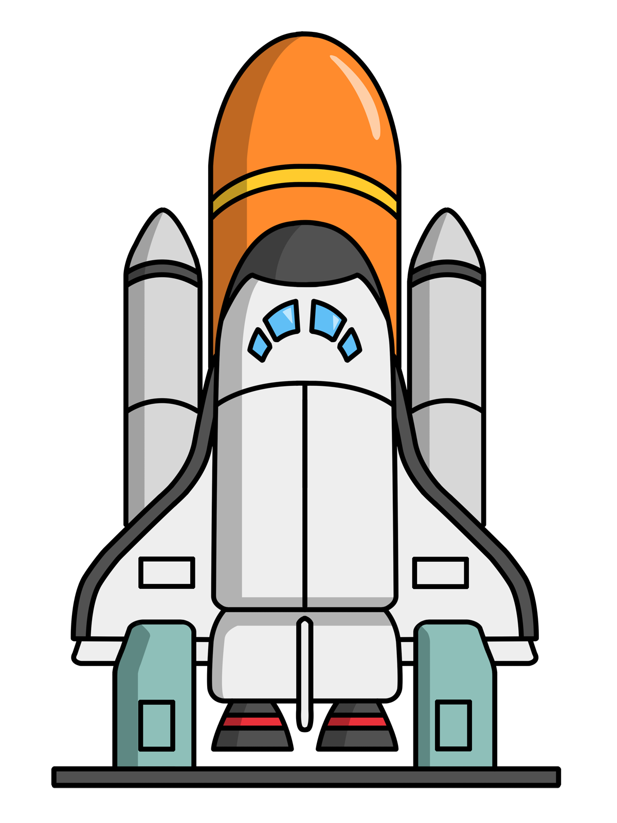 1200x1600 Science Clipart Rocket Ship