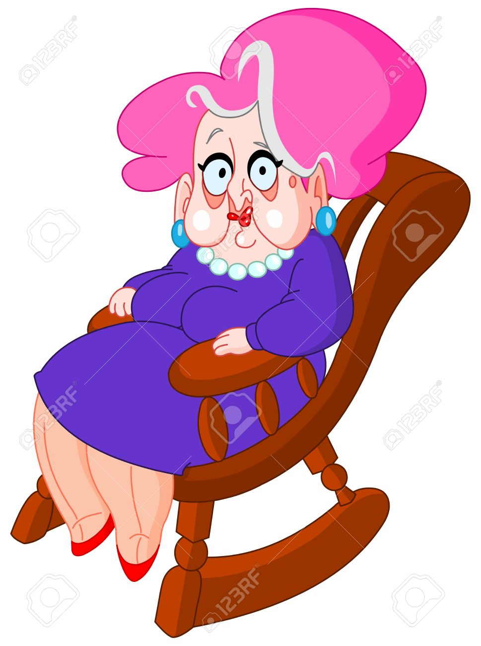 Cartoon Rocking Chair Clipart