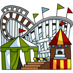 Cartoon Roller Coaster Clipart