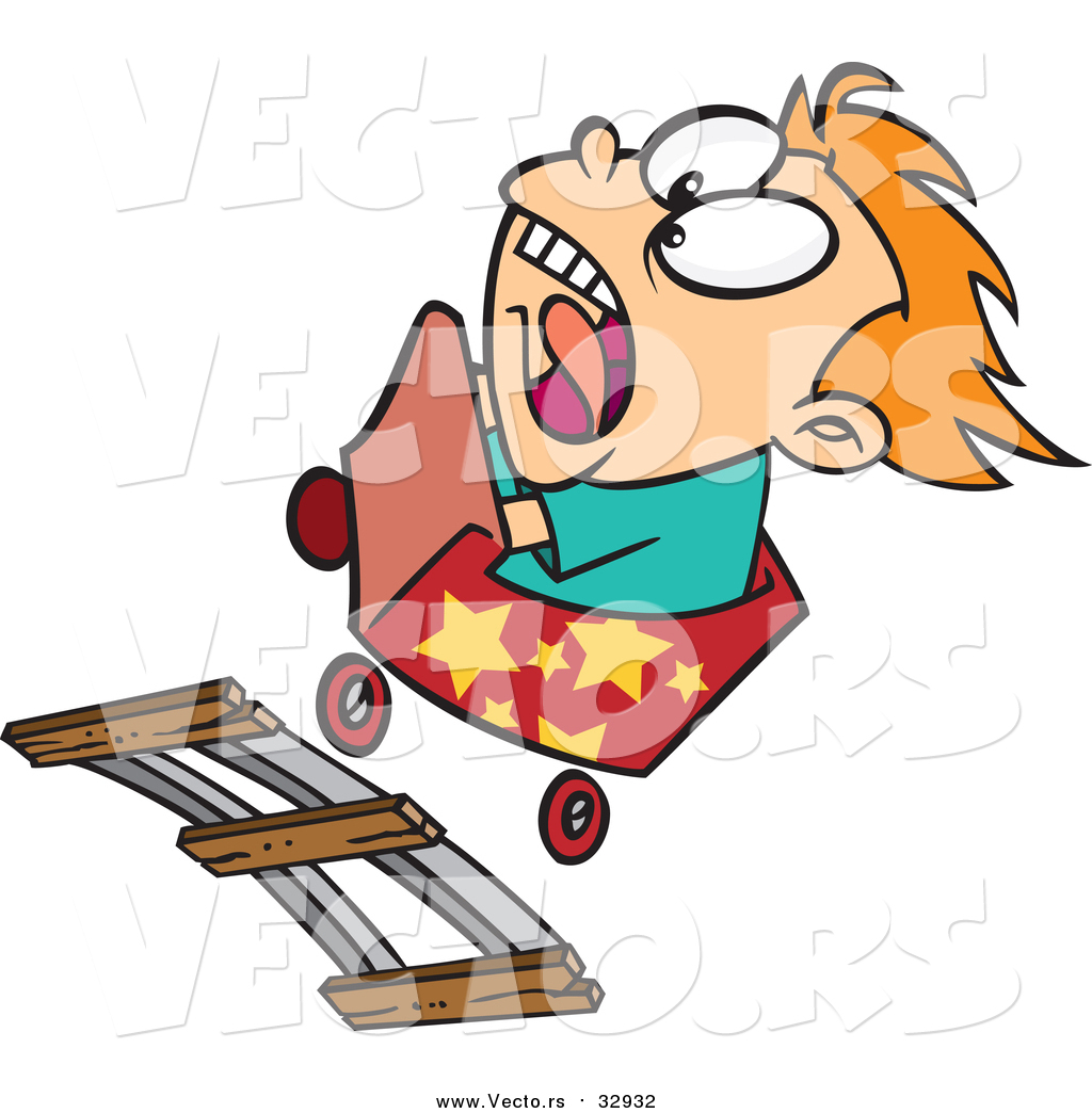 1024x1044 Vector Of A Scared Boy Riding A Roller Coaster