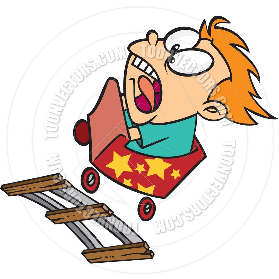 940x940 Cartoon Roller Coaster Ride By Ron Leishman Toon Vectors Eps