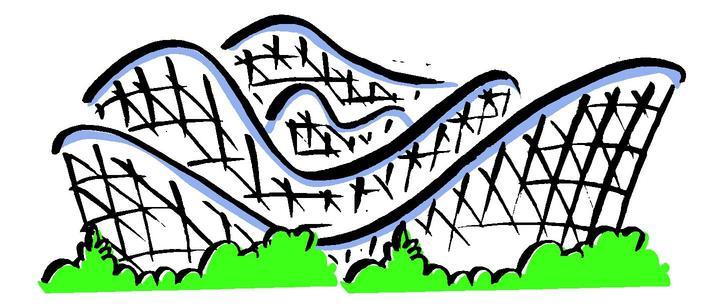 720x306 Cartoon Clipart Roller Coaster