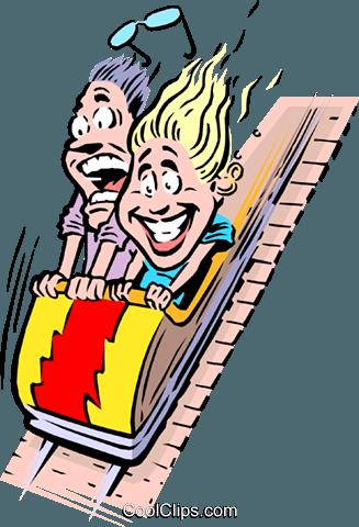 327x480 Cartoon Roller Coaster Royalty Free Vector Clip Art Illustration