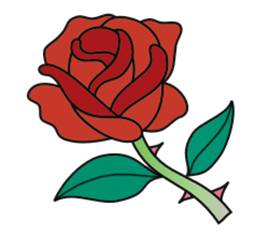 269x236 Drawn Red Rose Animated