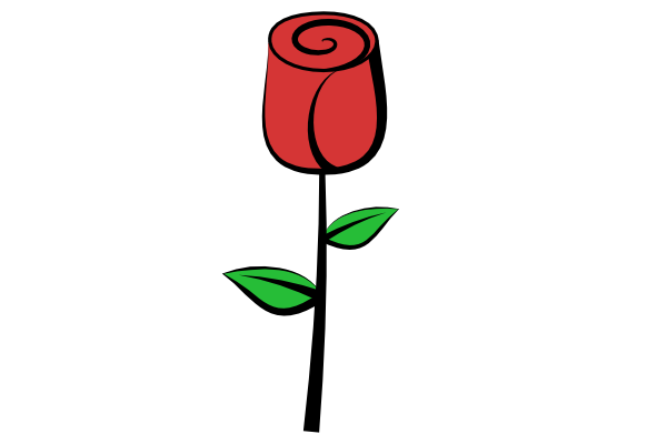 600x400 How To Draw A Rose In Inkscape Goinkscape Clipart