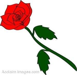 300x294 Red Rose Clipart Cartoon