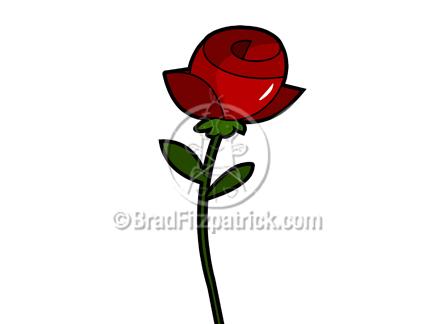 432x324 Cartoon Rose Cipart Royalty Free Rose Stock Illustration