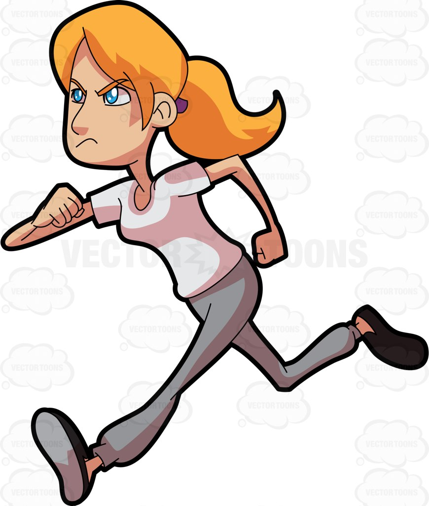 Cartoon Runner Clipart