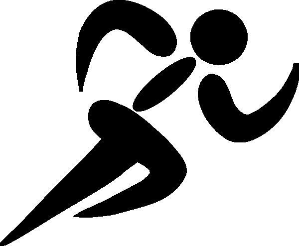 600x494 Clip Art Black White Runner Clipart Kid 3