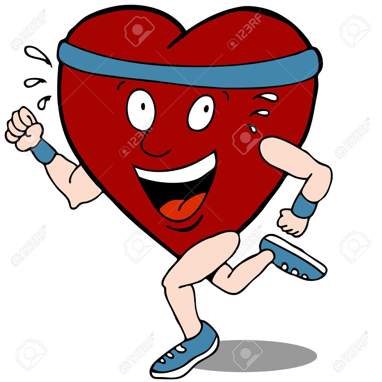1300x1300 Exercising Heart Clip Art