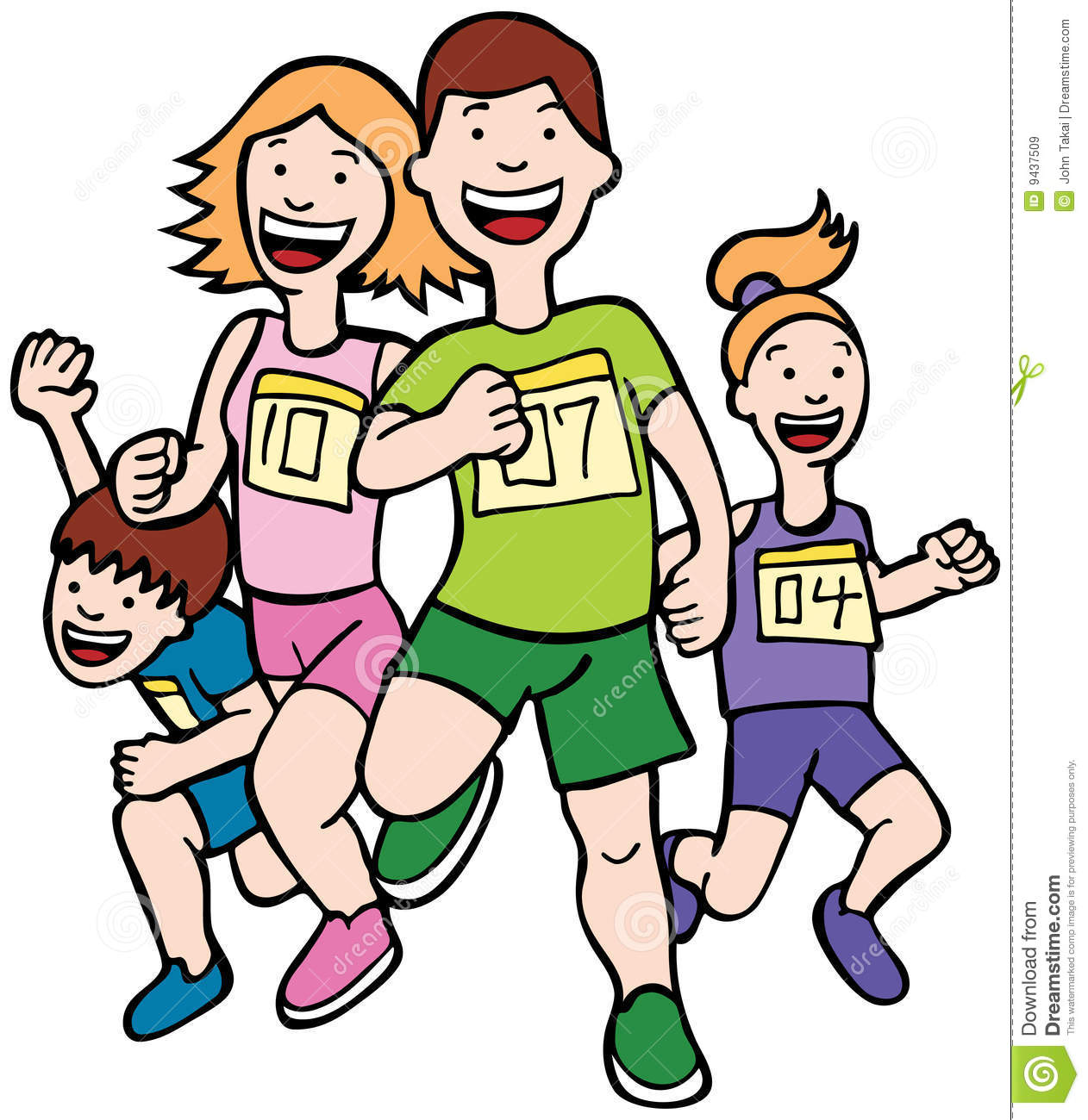 1262x1300 Free Clipart Of People Running In Track