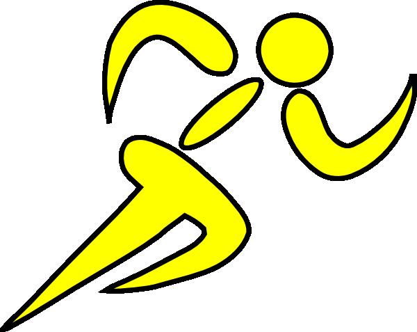 600x477 Runner Yellow Clip Art