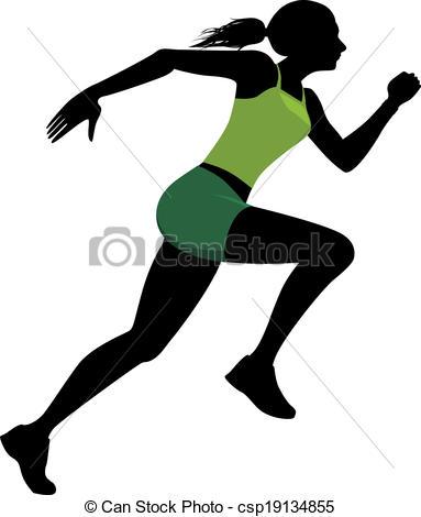 383x470 Runner Logo Clip Art