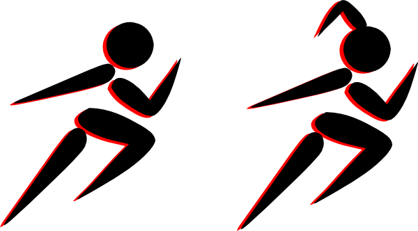 600x332 Boy And Girl Running Clip Art