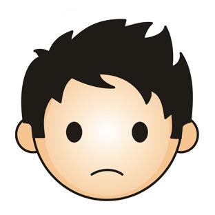 312x312 Sad Face Images Cartoon