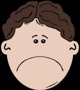 264x297 Boy Face Sad Clip Art