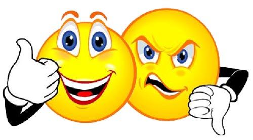 500x277 Smiley Face Thumbs Up Clipart Cartoon Sad Face