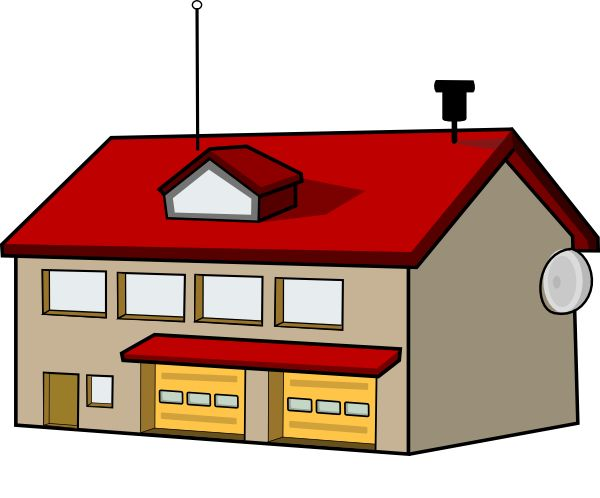 Cartoon School Building Clipart