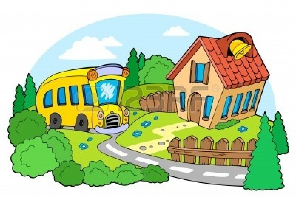 1200x801 Bus Clipart School Building