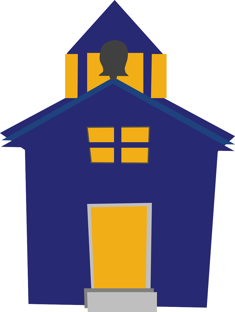 964x1280 Image Of School Building Clipart