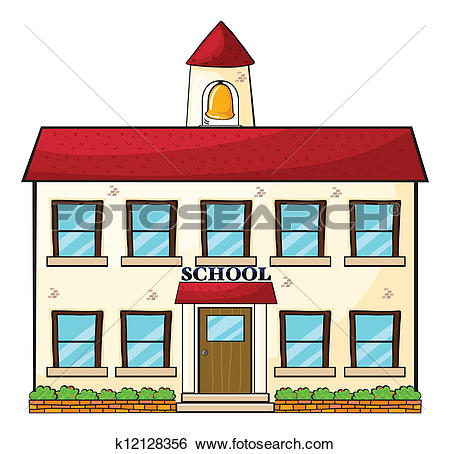 450x454 Larger Clipart School Building
