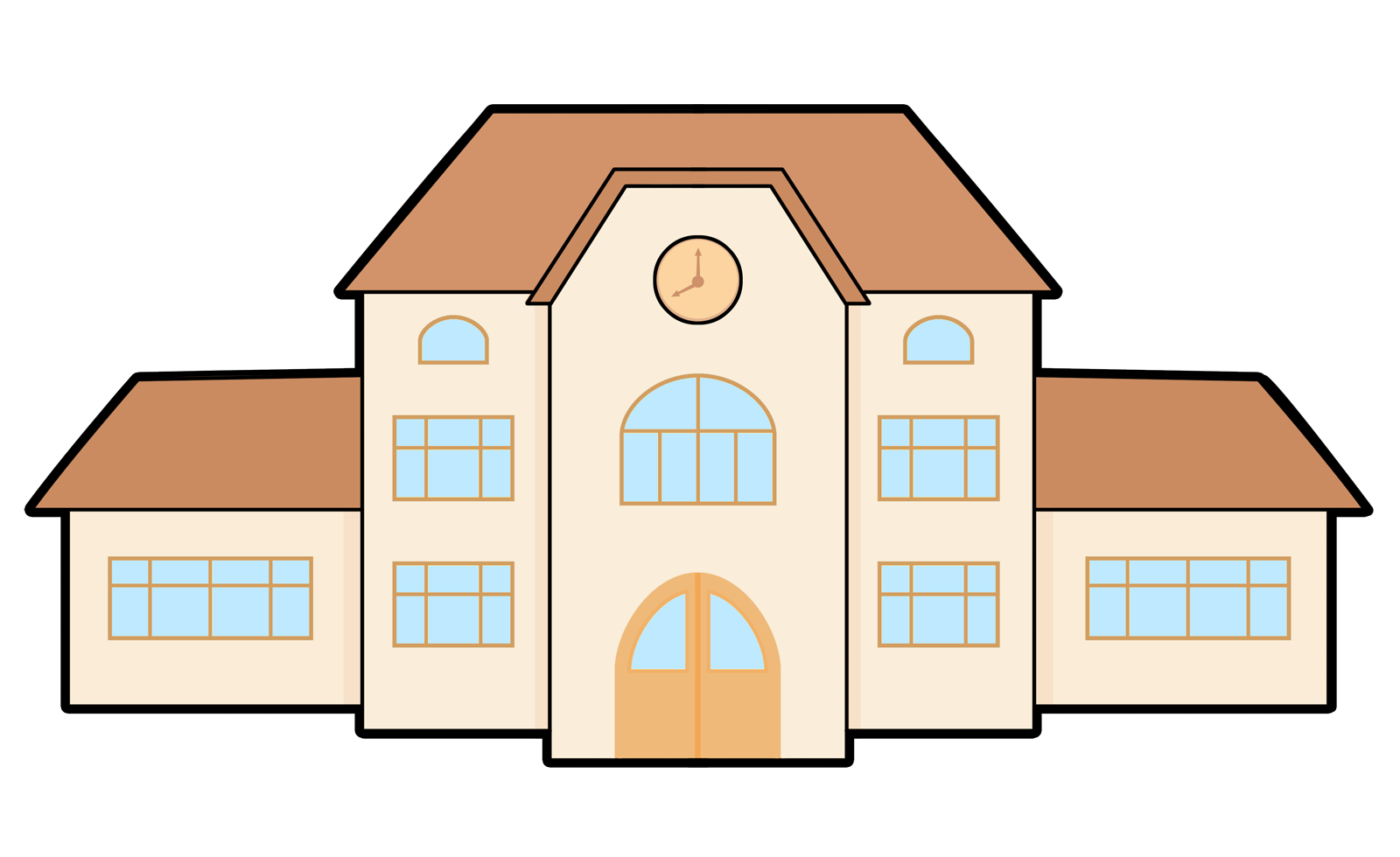 1600x980 Best School Building Clipart