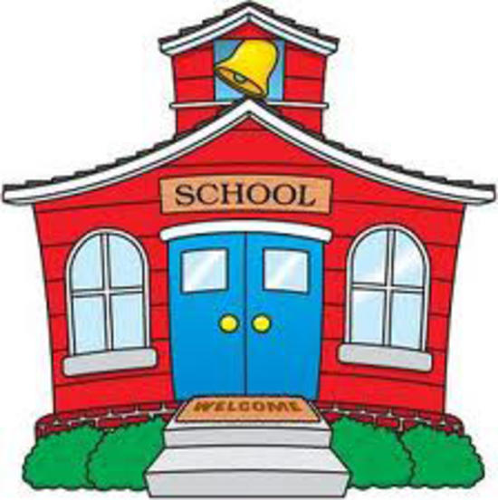 550x552 School Building Clipart
