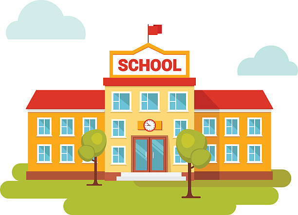 612x443 School Building Clipart, Explore Pictures