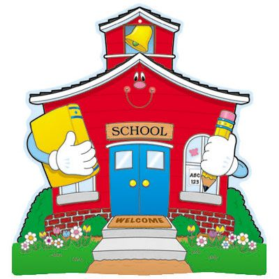 Cartoon School House Clipart