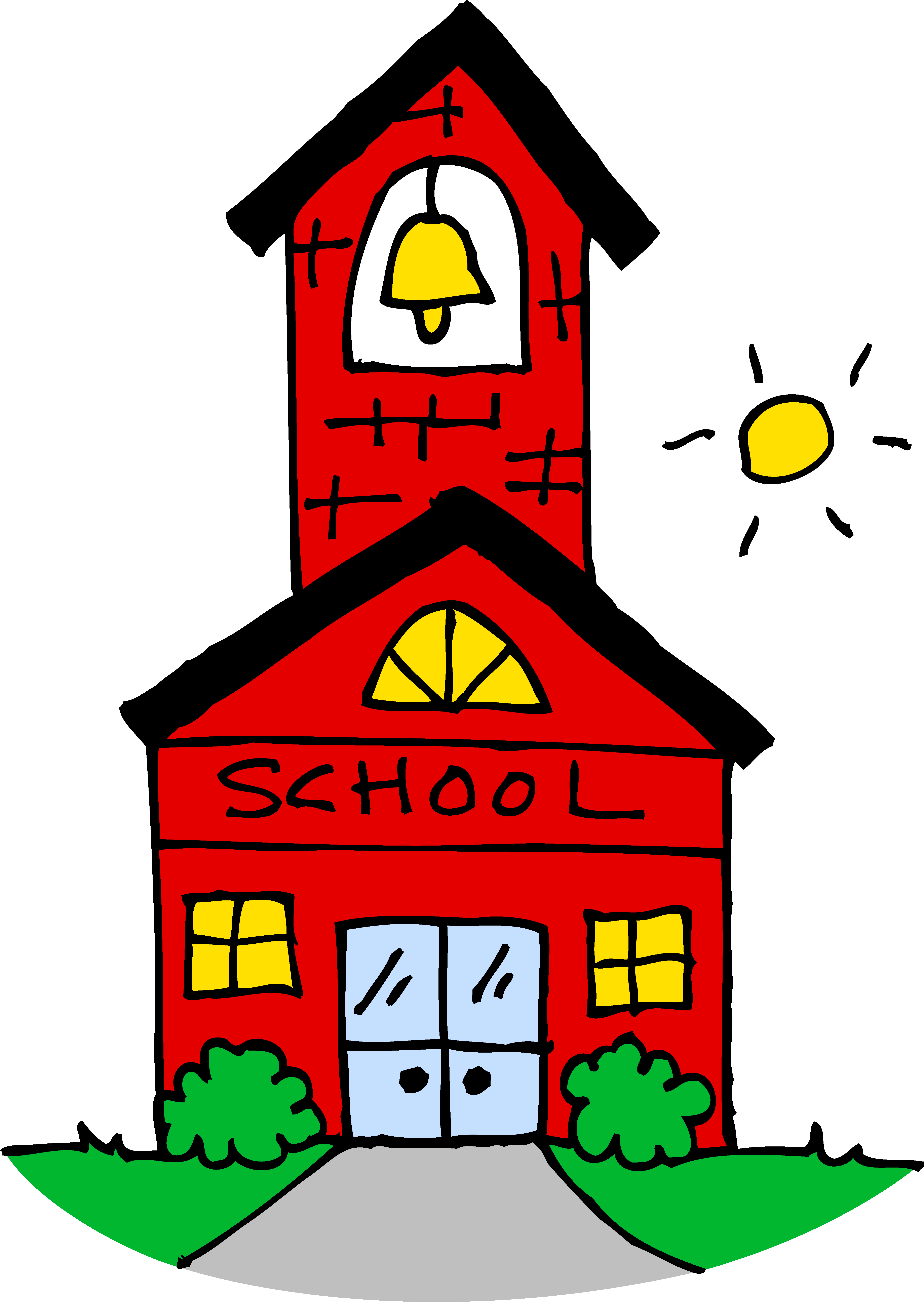 4596x6478 Cute School House Clipart