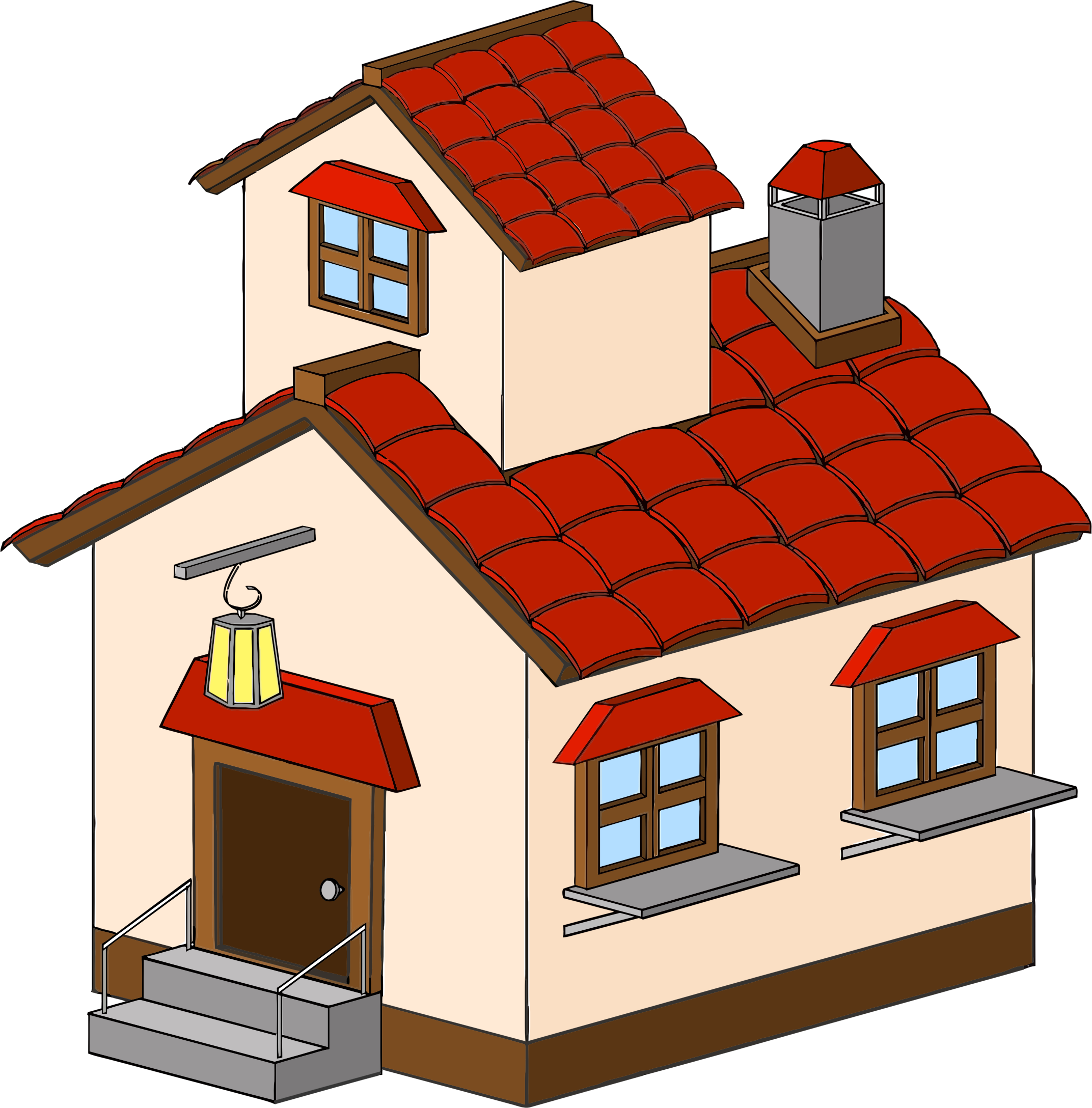 2144x2176 Free School House Clipart