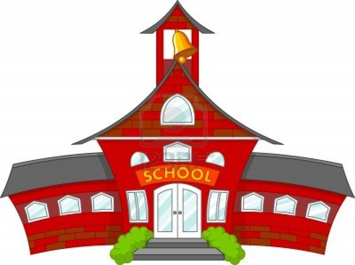 1200x894 School House Cartoon Clipart