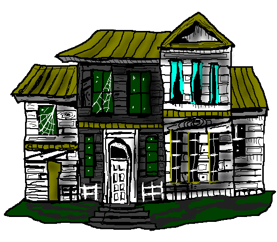 564x493 Top 91 Haunted House Clip Art
