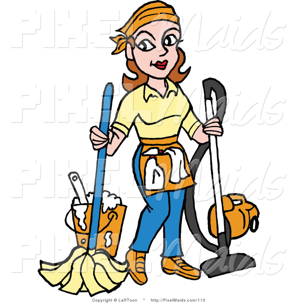 1024x1044 Pics Of Cartoon Maids Clipart Of A Housekeeper Mopping