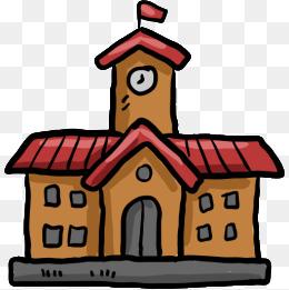 260x261 Cartoon School Building, School, Building, Cartoon Png And Vector