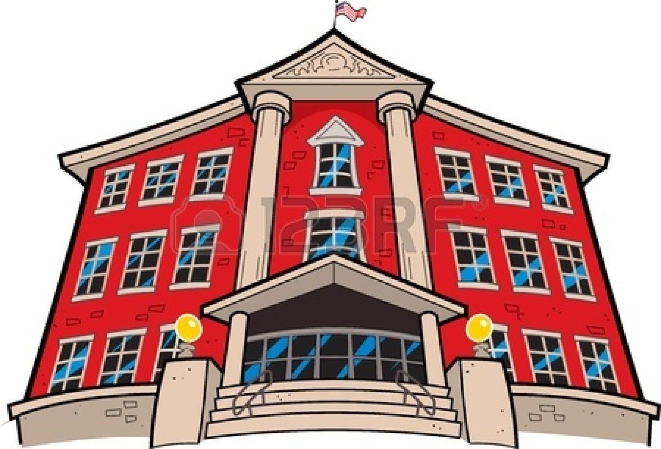 1350x918 Cartoon School Building Clipart