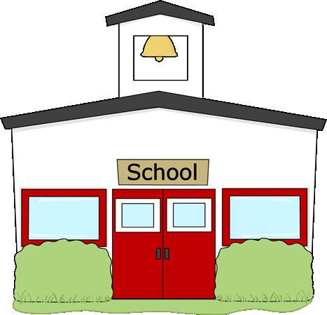 467x450 Cartoon School Building Clipart