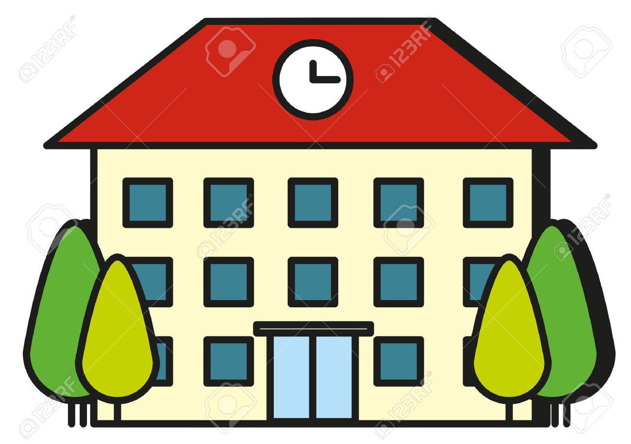 1300x916 Cartoon School Building Collection