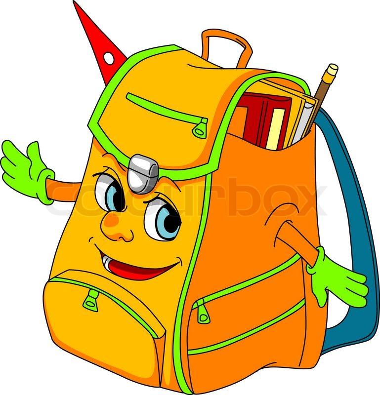 769x800 Cartoon School Satchel For Education Concept Vector Illustration