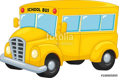 500x330 Vector Illustration Of Cartoon School Bus Isolated On White